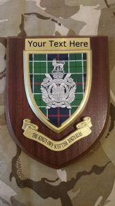 Kings Own Scottish Borderers Personalised Military Wall Plaque